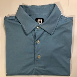 FootJoy Golf Polo 🔹 Blue & White Stripe